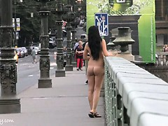 Tara shows her naked sexy body in public