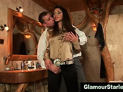 clothed-euro-babe-sucks-dick