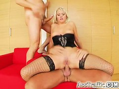 Two Of Our Guys Destroy Her Ass And Pussy. After A Hard Dp Session Kathy Gets Two Loads Of Hot Sperm Into Her Mouth For Her To Swallow