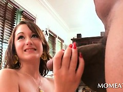 sexy-housekeeper-sucking-monster-black-dick-at-home
