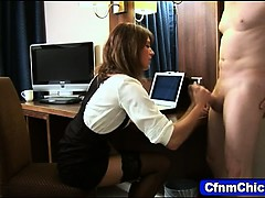 clothed-femdom-jerking-cock