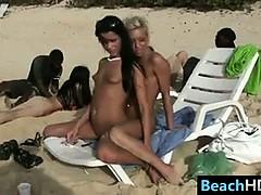 Kinky Naked Beach Girls