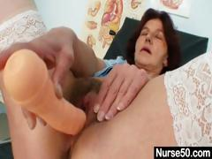 Redhead Grandma Linda Hairy Pussy Close Ups