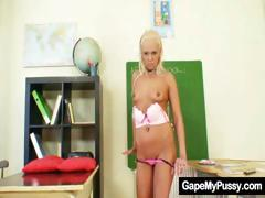 blond-slut-klara-weird-pussy-gape-by-helping-hands