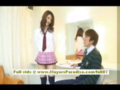 risa-tsukino-asian-doll-in-waitress-uniform-enjoys-sucking