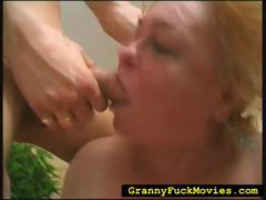 Extreme granny hard fucked in wild 3some