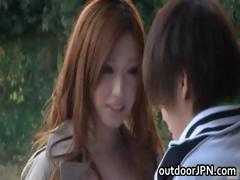 Ai Sayama Japanese babe has outdoor sex part3