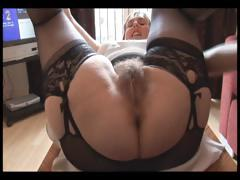 Hairy Busty Mature Lady In Slip And Girdle Does Upskirt And