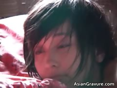 Amazing aroused real asian model posing  part1