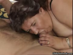 Nasty Old Slut Sucks On An Hard Cock Part6