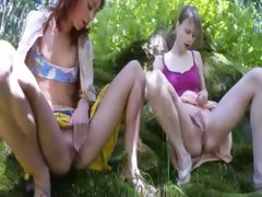 Three czech virgins masturbating