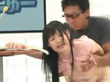 Asian TV presenter takes dick from behind in a show